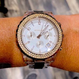 Michael Kors Rose Gold and Acrylic Watch